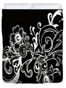 Coffee Flowers 7 Bw Duvet Cover