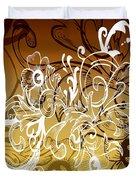 Coffee Flowers 7 Calypso Duvet Cover