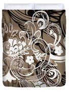 Coffee Flowers 8  Duvet Cover