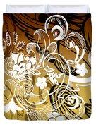 Coffee Flowers 8 Calypso Duvet Cover