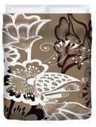 Coffee Flowers 9 Duvet Cover