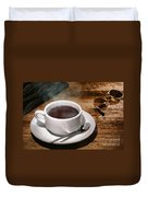 Coffee For The Voyageur Duvet Cover