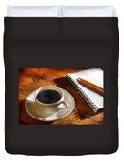 Coffee For The Writer Duvet Cover