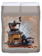 Coffee Grinder Duvet Cover