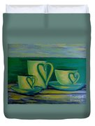 Coffee Lovers Duvet Cover