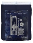 Coffee Mill Patent 1893 Blue Duvet Cover