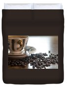 Coffee Seeds Duvet Cover