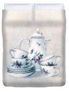 Coffee Set Duvet Cover