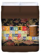 Coffee The Most Important Meal Of The Day Duvet Cover