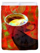 Coffee Time My Time 5d24472m12 Duvet Cover