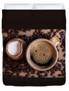 Coffee With A Smile Duvet Cover