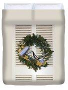 Coffee Wreath Duvet Cover
