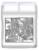 Coiners, 1577 Duvet Cover