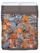 Coins Duvet Cover