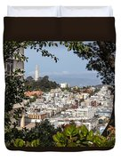 Coit Tower View Duvet Cover