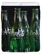 Coke Bottles From The 1950s Duvet Cover