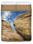 Colby's Cliff Duvet Cover