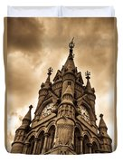 Colck Tower Stratford On Avon Sepia Duvet Cover