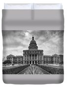 Cold And Blustery Day At The Texas State Capitol Austin Duvet Cover