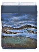 Cold Day At The Beach Duvet Cover