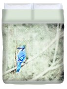 Cold Day For A Blue Jay Duvet Cover