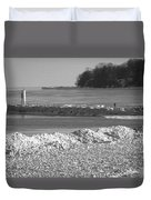 Cold Day On The Pier Duvet Cover