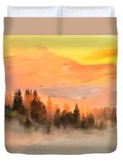 Cold Foggy Spring Morning Duvet Cover