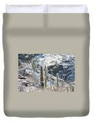 Cold Saguaros Duvet Cover