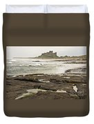 Cold Waves Of Northumberland Duvet Cover