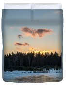Cold Winter Sunset Duvet Cover
