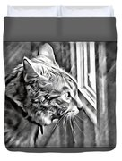 Cole Kitty Watchful Duvet Cover