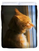 Colekitty On The Lookout Duvet Cover
