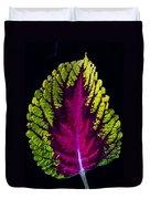Coleus Leaf Duvet Cover