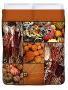 Collage - Corn - Pumpkins - Gourds - Elena Yakubovich Duvet Cover