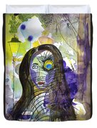 Collage Girl Duvet Cover