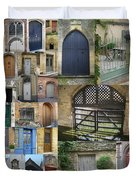 Collage Of Doors Duvet Cover