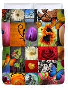Collage Of Happiness  Duvet Cover