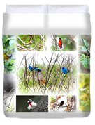 Collage Of Indigos 10 Duvet Cover