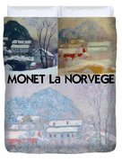 Collage Of Monet's Norwegian Works Duvet Cover