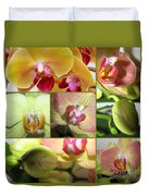 Collage Orchids 01yellow Green - Elena Yakubovich Duvet Cover