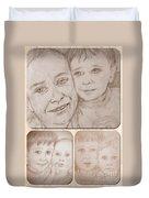 Collage Portraits Duvet Cover