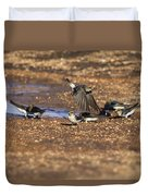 Collecting Mud Duvet Cover by Douglas Barnard