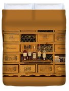 Collection Of Wines And Armagnac Duvet Cover
