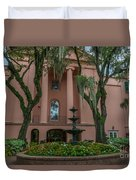 College Courtyard Duvet Cover