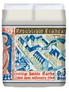 College Of St. Barbe 1460-1960 Half A Millennium Duvet Cover