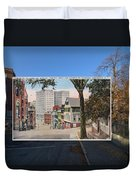 College Street To Market Square In Providence Ri Duvet Cover