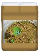 Colocasia Antiquorum Seedling And Water Droplet Duvet Cover