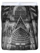 Cologne Cathedral 11 Bw Duvet Cover