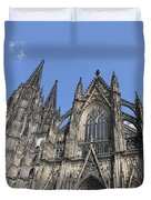 Cologne Cathedral South Side Rooflines Duvet Cover