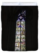 Cologne Cathedral Stained Glass Window Coronation Of The Virgin Duvet Cover
